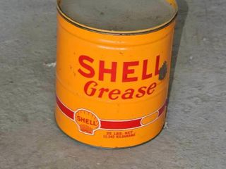 Vintage Shell Grease Can