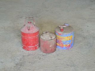 3  Vintage Fuel Cans