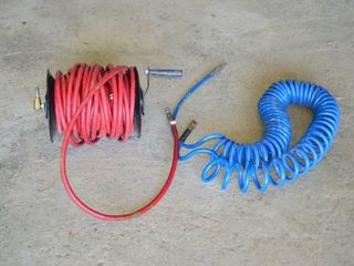 Hose Reel with Air line and Coil Air line