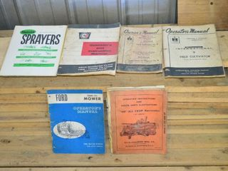 Grp  of Old Farm Equipment Manuals