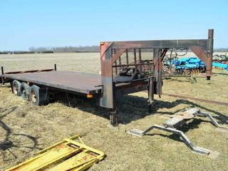 24ft Tri Axle Trailer with  2  5th Wheel Hitches