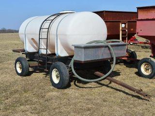 Water Wagon with 1400 Gal Tank  Storage Box
