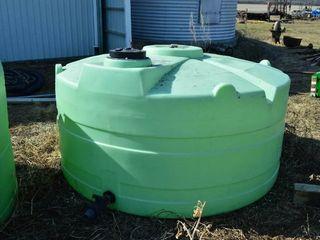 Round Poly Storage Tank  1000 gal