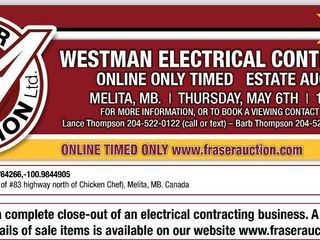 WESTMAN ELECTRICAL CONTRACTING ONLINE TIMED AUCTION