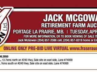 JACK MCGOWAN ONLINE RETIREMENT FARM AUCTION RING #1 PRE-BID LIVE VIRTUAL LOTS