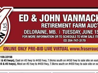 ED & JOHN VANMACKELBERG ONLINE RETIREMENT FARM AUCTION RING #1 PRE-BID LIVE VIRTUAL LOTS