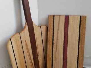 Two Handcrafted Charcuterie Cutting Boards