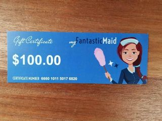 My Fantastic Maid Gift Certificate for  100 Toward