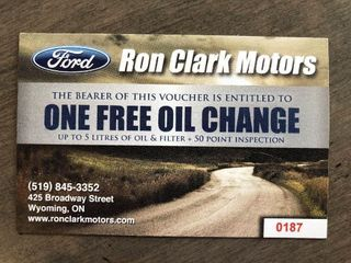 One Oil Change at Ron Clark Motors