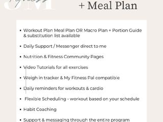 Four Week Workout and Meal Plan
