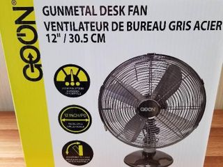 Goon Gunmetal Desk Fan 12