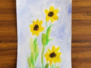 Sunflowers  by Adeline McEachran  Grade 8  Waterc