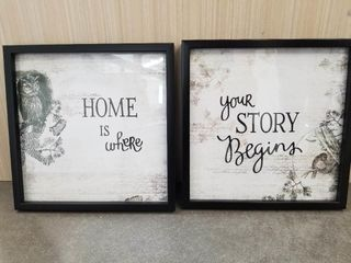 Home is Where Your Story Begins  Framed Wall Quot