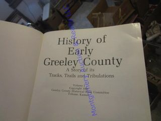 GREElEY CO HISTORICAl BOOK