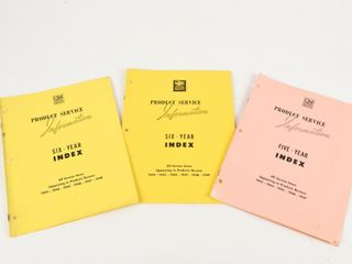 lOT GM FIVE YEAR INDEX PROD  SERVICE INFO BOOKlETS