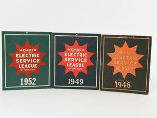 lOT 3 1948 49 1952 MEMBER ElECTRIC SERVICE lEAGUE