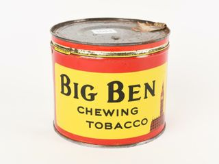 BIG BEN CHEWING TOBACCO 2 POUND CUT OFF CANISTER
