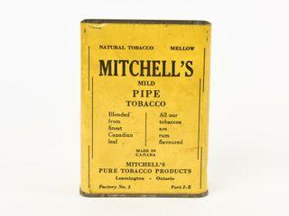 RARE MITCHEll S PIPE TOBACCO UPRIGHT TIN   NO lID