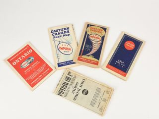 GROUPING 5 IMPERIAl OIl 1930 S   1946 HIGHWAY MAPS