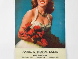 1955 FARROW MOTOR SAlES ADVERTISING CAlENDAR