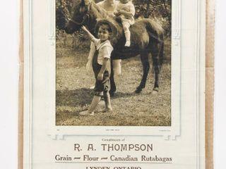 R A  THOMPSON 1926 COMPlIMENTARY CAlENDAR
