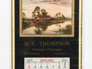 1943 R C THOMPSON lYNDEN ONTARIO CAlENDAR
