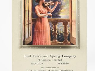 IDEAl FENCE   SPRING CO  1923 CAlENDAR PRINT