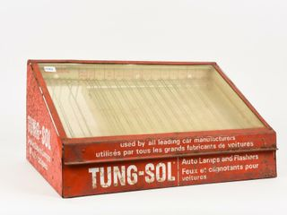 TUNG SOl SEAlED BEAM lAMPS TIN CABINET  NO CONTENT