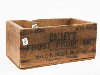 DAllEY S FROST PROOF INK WOODEN BOX