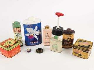 lOT OF 8 VINTAGE HEAlTH   BEAUTY COllECTOR TINS