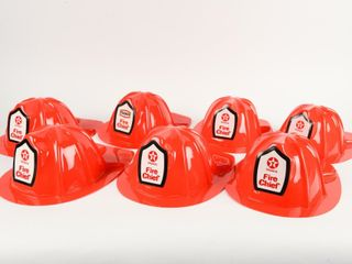 lOT OF 7 TEXACO FIRE CHIEF PlASTIC HATS   NOS