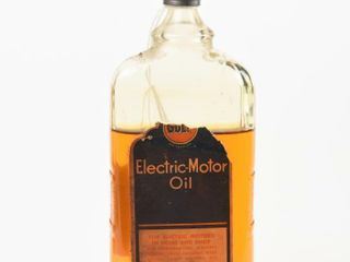 GUlF ElECTRIC MOTOR OIl 4 0Z GlASS BOTTlE CONTENT
