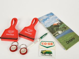 lOT OF CO OP ADVERTISING COllECTIBlES