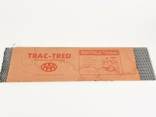 AAA TRAC TRED AUTOMOBIlE TRACTION MATS  PACKAGING