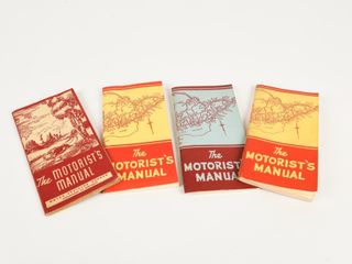 GROUPING OF 4 1940   3 1950 S MOTORIST S MANUAlS