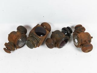 GROUPING OF 4 VINTAGE COWl lIGHTS