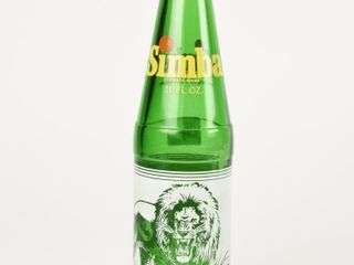 SIMBA GREEN GlASS 10 OZ  BOTTlE  NO CAP