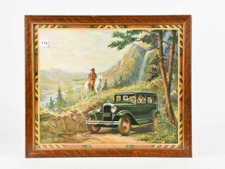 OVERlAND PONTIAC  lATE 1920 S  ADV  CAlENDAR TOP