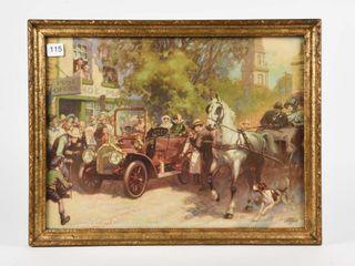 EARlY 1900 S MclAUGHlIN CAR ADV  CAlENDAR TOP