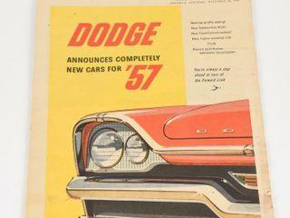 1956 STAR WEEKlY DODGE  57 NEWSPAPER ADVERTISING