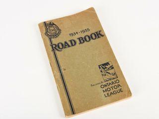 1934 35 CAA ONTARIO MOTOR lEAGUE ROAD BOOK