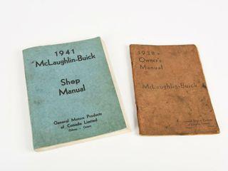 lOT 2 1938   1941 MclAUGHlIN  BUICK MANUAlS