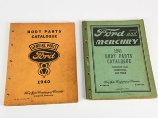 lOT 2 FORD CANADA BODY PARTS CATAlOGUES