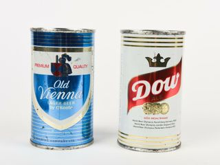GROUPING OF 2 12 OZ  BEER CAN ADVERTISING BANKS