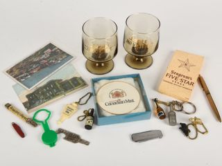 GROUPING BEER   WHISKEY ADVERTISING COllECTIBlES