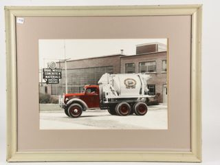 FRAMED EARlY CONCRETE MATERIAlS CEMENT MIXER PRINT