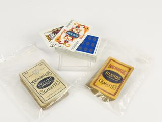 lOT OF 3 TOBACCO COMPANY PlAYING CARDS