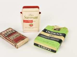 GROUPING OF 3 VINTAGE TOBACCO COllECTIBlES