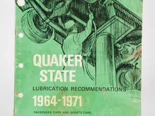 1971 QUAKER STATE OF CANADA lUBRICATION GUIDE
