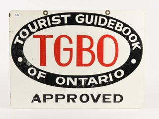 TGBO TOURIST GUIDE OF ONTARIO APPROVED D S SIGN